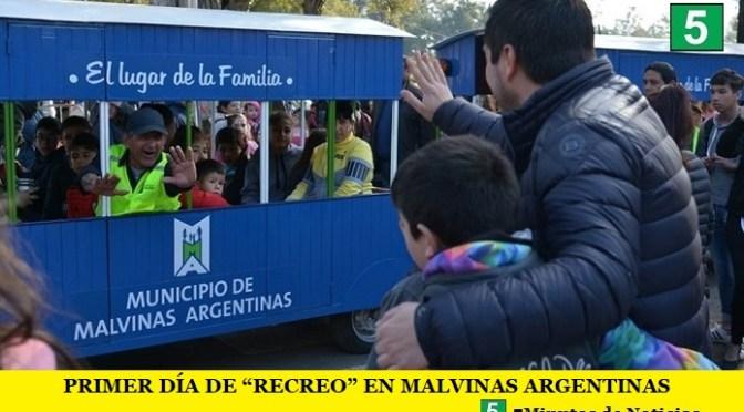 """PRIMER DÍA DE """"RECREO"""" EN MALVINAS ARGENTINAS"""