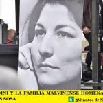 LEO NARDINI Y LA FAMILIA MALVINENSE HOMENAJEARON A MERCEDES SOSA