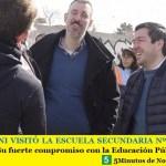 LEO NARDINI VISITÓ LA ESCUELA SECUNDARIA Nº 8 DE VILLA DE MAYO | Su fuerte compromiso con la Educación Pública