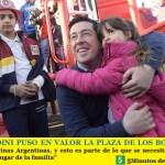 """LEO NARDINI PUSO EN VALOR LA PLAZA DE LOS BOMBEROS   """"Somos Malvinas Argentinas, y esto es parte de lo que se necesita para poder construir el lugar de la familia"""""""