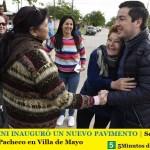 LEO NARDINI INAUGURÓ UN NUEVO PAVIMENTO | Se trata de la calle Ángel Pacheco en Villa de Mayo