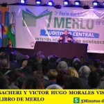 EDUARDO SACHERI Y VICTOR HUGO MORALES VISITARON LA FERIA DEL LIBRO DE MERLO