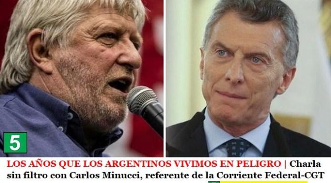 LOS AÑOS QUE LOS ARGENTINOS VIVIMOS EN PELIGRO | Charla sin filtro con Carlos Minucci, referente de la Corriente Federal-CGT