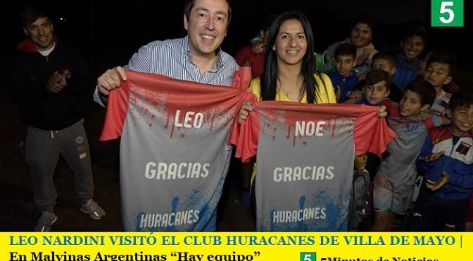 """LEO NARDINI VISITÓ EL CLUB HURACANES DE VILLA DE MAYO   En Malvinas Argentinas """"Hay equipo"""""""