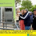 ZABALETA INAUGURÓ LA 1° UNIDAD DE CAJEROS DE WILLIAM MORRIS JUNTO A LA DIRECTORA DEL BAPRO JULIANA DI TULLIO