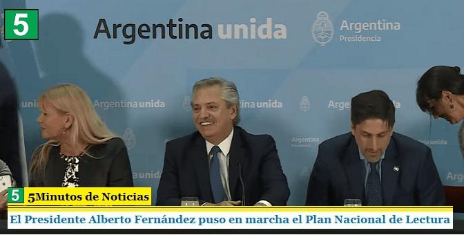 EL PRESIDENTE ALBERTO FERNÁNDEZ PUSO EN MARCHA EL PLAN NACIONAL DE LECTURA