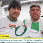 EVO MORALES Y PABLO MOYANO JUGARON AL FÚTBOL EN EL PREDIO DE CAMIONEROS Camioneros, Encuentro