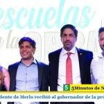EL INTENDENTE DE MERLO RECIBIÓ AL GOBERNADOR DE LA PROVINCIA