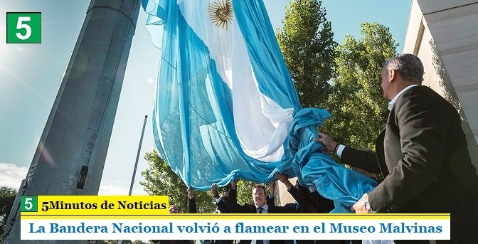 La Bandera Nacional volvió a flamear en el Museo Malvinas