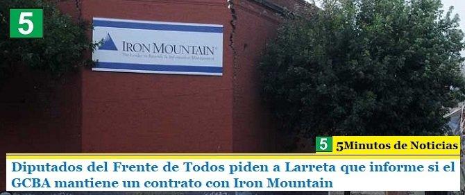 Diputados del Frente de Todos piden a Larreta que informe si el GCBA mantiene un contrato con Iron Mountain