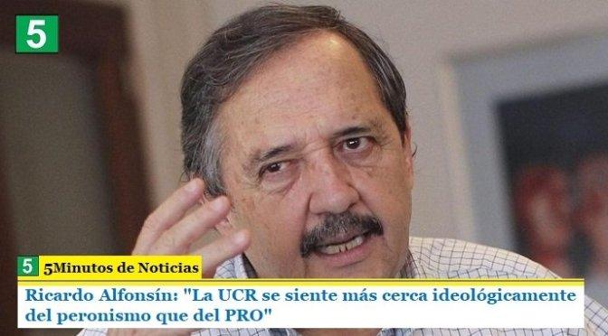 """Ricardo Alfonsín: """"La UCR se siente más cerca ideológicamente del peronismo que del PRO"""""""