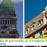 Estrictas medidas de prevención en el Congreso Nacional y en la Legislatura porteña