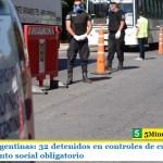 Malvinas Argentinas: 32 detenidos en controles de cumplimiento del aislamiento social obligatorio