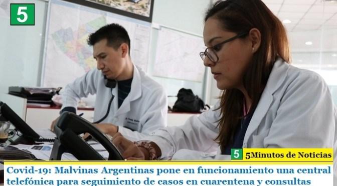 Covid-19: Malvinas Argentinas pone en funcionamiento una central telefónica para seguimiento de casos en cuarentena y consultas