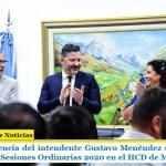 Con la presencia del intendente Gustavo Menéndez se realizó la apertura de Sesiones Ordinarias 2020 en el HCD de Merlo