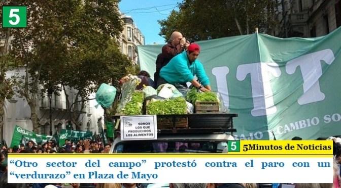 """""""Otro sector del campo"""" protestó contra el paro con un """"verdurazo"""" en Plaza de Mayo"""