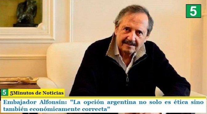 Un día después de que el presidente Alberto Fernández anunciara la prórroga de la cuarentena hasta después de Semana Santa, Alfonsín avaló lo actuado por el Gobierno.