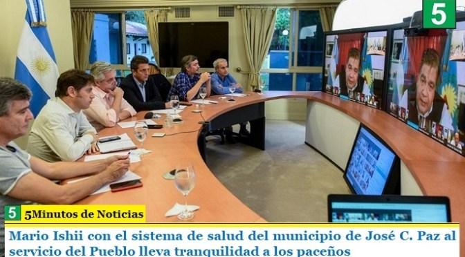 Mario Ishii con el sistema de Salud del municipio de José C. Paz al servicio del Pueblo lleva tranquilidad a los paceños