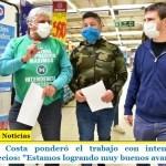 """El ministro Costa ponderó el trabajo con intendentes para controlar precios: """"Estamos logrando muy buenos avances"""""""