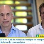 Nuevo escándalo en CABA: Piden investigar la compra irregular de 300.000 test rápidos de coronavirus