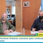 Sabbatella y Ferraresi firmaron convenio para continuar estudios del agua de la Cuenca