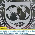 Legisladores de todo el mundo instan al FMI y al Banco Mundial a cancelar la deuda de los países más vulnerables