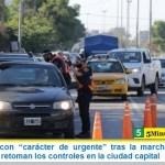 """En Córdoba con """"carácter de urgente"""" tras la marcha atrás en la flexibilización retoman los controles en la ciudad capital"""