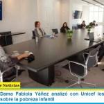 La Primera Dama Fabiola Yáñez analizó con Unicef los efectos del coronavirus sobre la pobreza infantil