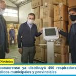 El gobierno bonaerense ya distribuyó 490 respiradores nuevos en hospitales públicos municipales y provinciales