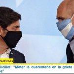 """Gobernador Kicillof: """"Meter la cuarentena en la grieta no me parece una buena idea"""""""