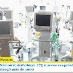 El Gobierno Nacional distribuye 275 nuevos respiradores en todo el país y ya entregó más de 1000