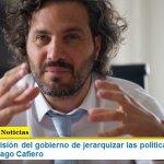 """""""Hay una decisión del gobierno de jerarquizar las políticas de género"""" sostuvo Santiago Cafiero"""