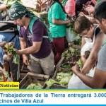La Unión de Trabajadores de la Tierra entrega 3.000 bolsones de verduras a vecinos de Villa Azul