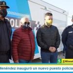 Gustavo Menéndez inauguró un nuevo puesto policial en Merlo