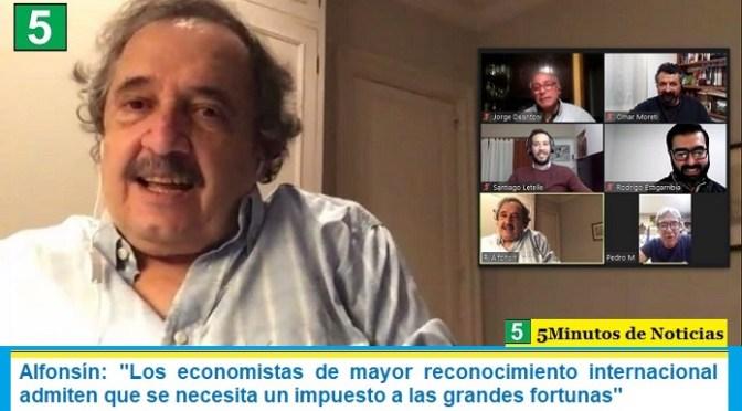 """Alfonsín: """"Los economistas de mayor reconocimiento internacional admiten que se necesita un impuesto a las grandes fortunas"""""""