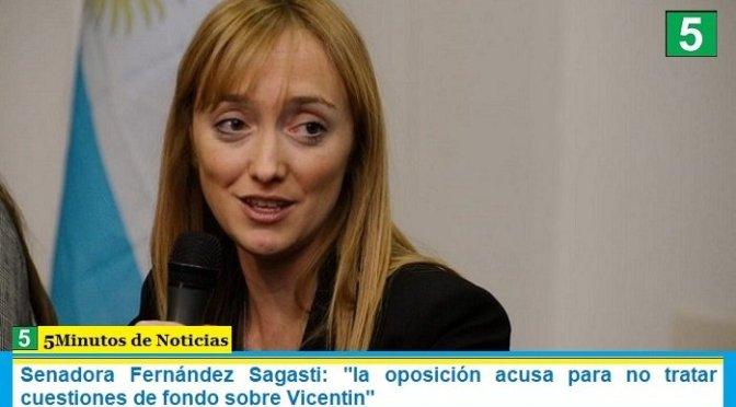 """Senadora Fernández Sagasti: """"la oposición acusa para no tratar cuestiones de fondo sobre Vicentin"""""""