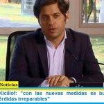 """Gobernador Kicillof: """"con las nuevas medidas se busca evitar la angustia de pérdidas irreparables"""""""