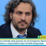 Santiago Cafiero brinda este jueves en el Congreso Nacional su primer informe de gestión y responderá más de 600 preguntas