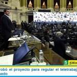 Diputados aprobó el proyecto para regular el teletrabajo y lo giró en revisión al Senado