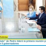 """El ministro """"Wado"""" de Pedro lideró la primera reunión por """"Portezuelo del Viento"""" con 5 gobernadores"""