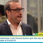 El senador bonaerense Luis Vivona busca que sea ley la donación de plasma para tratar el Covid-19