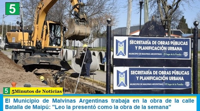 "El Municipio de Malvinas Argentinas trabaja en la obra de la calle Batalla de Maipú: ""Leo la presentó como la obra de la semana"""