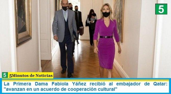 """La Primera Dama Fabiola Yáñez recibió al embajador de Qatar: """"avanzan en un acuerdo de cooperación cultural"""""""