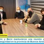 Kicillof, Frederic y Berni mantuvieron una reunión para coordinar cuestiones de seguridad en la provincia de Buenos Aires