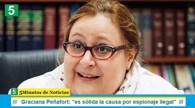 """Graciana Peñafort: """"es sólida la causa por espionaje ilegal"""""""
