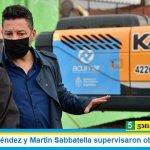 Gustavo Menéndez y Martín Sabbatella supervisaron obras en Merlo