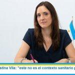 """Ministra Agustina Vila: """"este no es el contexto sanitario para volver a las aulas"""""""