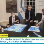 El Presidente Fernández destacó la labor para aprobar las leyes de Espacios Marítimos y el Consejo de Malvinas