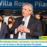 El Presidente Fernández firmó convenios con los municipios de Pilar y Tres de Febrero en el marco del programa Fonplata