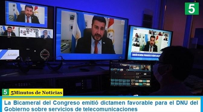 La Bicameral del Congreso emitió dictamen favorable para el DNU del Gobierno sobre servicios de telecomunicaciones